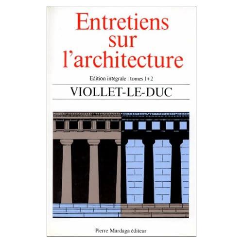 ENTRETIENS SUR L ARCHITECTURE