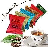 Bocca della verita Kaffee-Kapseln 100 Stück - Nespresso® kompatible KaffeekapselnNapoli 15 Ristretto 20 Puro arabica 15 Cremoso 15 Lungo 15 Decaffeinato 15 Compatible 5 Ginseng cápsulas Nespresso