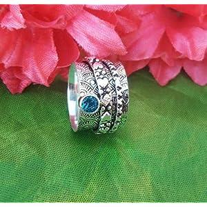 Meditationsringe, Spinnerringe, Silberringe für Frauen, Beautiful Designer Spinning Ring for Women, Anxiety Ring for Meditaion, 925 Sterling Silver Spinner Band Rings for Women