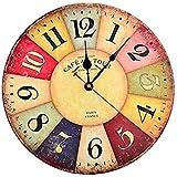 horloge murale colorée cuisine maison