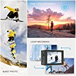 Crosstour 4K 20MP Action Camera Webcam WiFi EIS Waterproof 40M with External Microphone and Remote Control 16