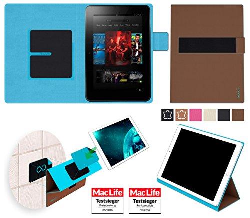 reboon Hülle für Amazon Kindle Fire HD 8.9 Tasche Cover Case Bumper | in Braun | Testsieger