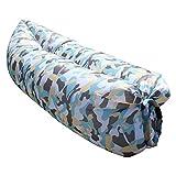 Shuailv aria gonfiabile sdraio da spiaggia sofa divano portatile impermeabile per esterni ed interni per campeggio, Park, canottaggio, Backyard Hangout, donna, Blue Camouflage