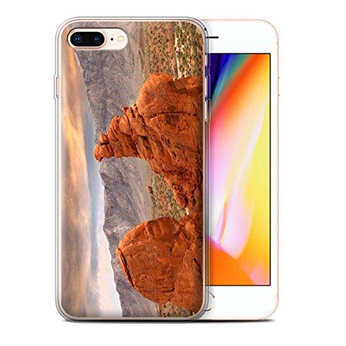 Stuff4 Gel TPU Hülle / Case für Apple iPhone 8 Plus / Tal Muster / Bundesstaat Nevada Kollektion Felsenschlucht