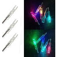 SHARROW 12pcs LED Flecha Nock Iluminado 6.2mm para Flechas de Carbono Aluminio (12pcs)