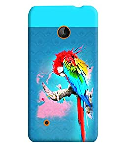 PrintVisa Birds Parrot Colorful 3D Hard Polycarbonate Designer Back Case Cover for Nokia Lumia 530