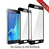 ykooe Panzerfolie für Samsung Galaxy J3 (2016) Displayschutzfolie, Panzerglas Folie Schutzfolie Hartglas 9H Glasfolie für Samsung Galaxy J3 2016