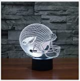 3D Eagles Football Cap Helm führte Licht Geschenk Möbel für Kinder, Fans