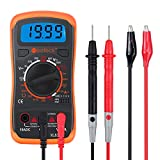 Neoteck Multimeter Pocket Digital Multi Tester Voltmeter Ammeter Ohmmeter AC/DC Voltage Current Resistance
