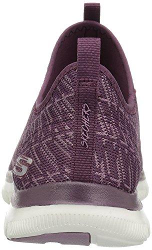 Skechers Flex Appeal 2.0, Scarpe da Ginnastica Basse Donna Plum