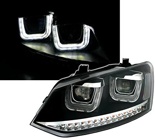 Eagle Eyes Scheinwerfer Set, mit LED Blinker, mit U-Tube Tagfahrlicht Optik, in Schwarz