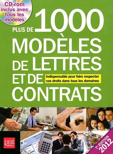 Plus de 1000 modèles de lettres et de contrats 2012 (1Cédérom)