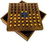 Wende den Stein - Strategiespiel für 2 Spieler - Brettspiel aus edlem Holz