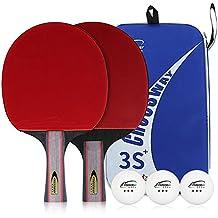 CROSSWAY 2 Piezas por Juego de Mesa Tenis Ping Pong Bat Pala de Pádel Tres Estrellas