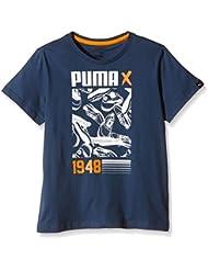 Icon Style Puma-Camiseta de manga corta para niño Azul azul Talla:10 años (talla del fabricante: 140)