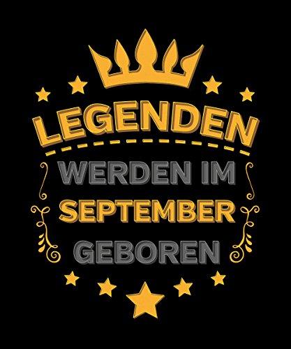 -- Legenden werden im September geboren -- Boys Kapuzenpullover Schwarz