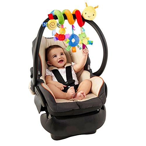 Imagen para Pixnor Espiral actividades colgar juguetes del cochecito de bebé juguetes carro asiento cochecito juguete con campana de timbre