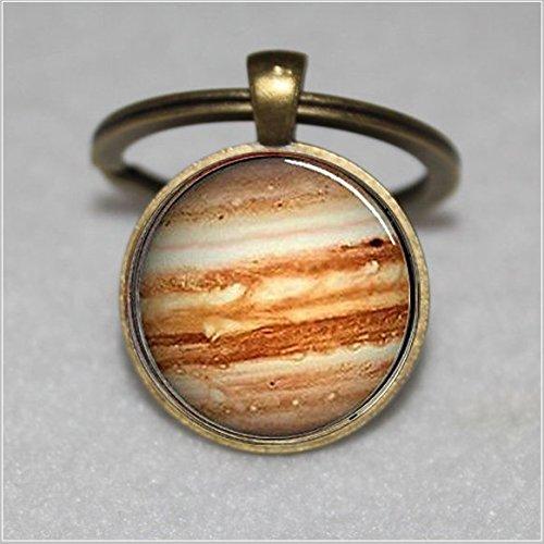 Jupiter Schlüsselanhänger, Glas, Orange Planet  Einzigartige Schlüsselanhänger Key Ring Geschenk  Everyday Schlüsselanhänger Key kette
