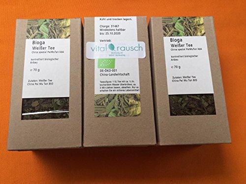 BIO Pai Mu Tan Weisser Tee China – lose Blätter – 210 g (3×70 g)
