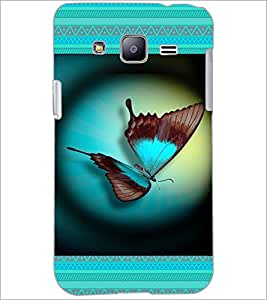 PrintDhaba Butterfly D-4644 Back Case Cover for SAMSUNG GALAXY J2 (Multi-Coloured)