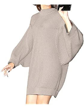 FEITONG Invierno De las mujeres Manga larga Casual Suéter Calentar Tejido de punto Pull-over