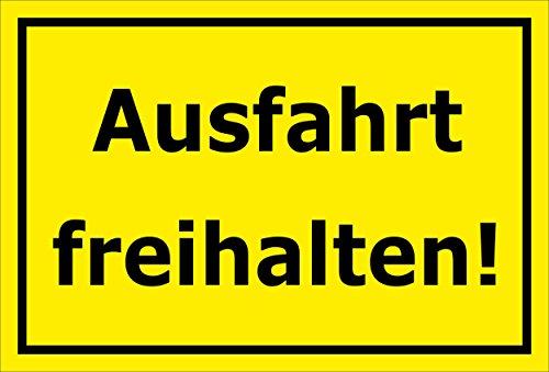 Melis Folienwerkstatt Schild - Ausfahrt freihalten - 30x20cm | Bohrlöcher | 3mm Aluverbund - S00065-066-C -20 VAR