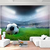 Fototapete Fussball Stadion Vlies Wand Tapete Wohnzimmer Schlafzimmer Büro Flur Dekoration Wandbilder XXL Moderne Wanddeko - 100% MADE IN GERMANY - Ball Blau Runa Tapeten 9050010b