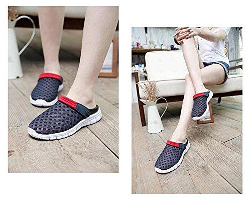 Preto Mulas Glter Verão De Chinelos Sandálias De Sapatos Jardim Tamancos Praia Casuais Par Homens Respirável De Novos De Malha qxUwqBrAT