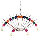 #6: Jainsons Pet Bird Swing Hammock Hanging Wooden Chew Toy For Budgie Parakeet Love Bird Finch Sun Conure