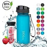 720°DGREE Trinkflasche 'uberBottle' - 650 ml, 0,65 l, Blau | Neuartige Tritan Wasser-Flasche | Water Bottle BPA...