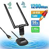 Letmetry Clé WiFi 1200Mpbs Adaptateur USB 3.0 WiFi Dongle sans Fil AC Double Bande...