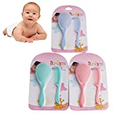 Manyo Baby-Haarbürste, Sicherheits-Kamm, für Säuglinge, 2-teiliges Set