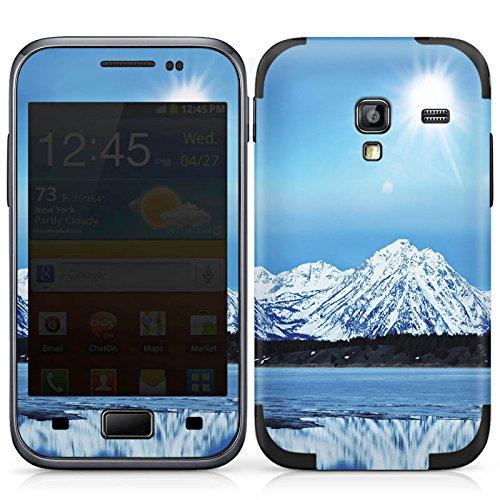DeinDesign Samsung Galaxy Ace Plus Case Skin Sticker aus Vinyl-Folie Aufkleber Gebirge Schnee Gipfel -