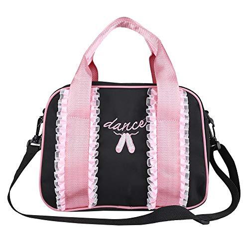 Mädchen Balletttasche Tanz Rucksack Kinderhandtasche einzelne Schulter Sport-Tasche Umhängetasche für Ballett, Tanz, Basketball(Schwarz) Ballerina Duffle Bag