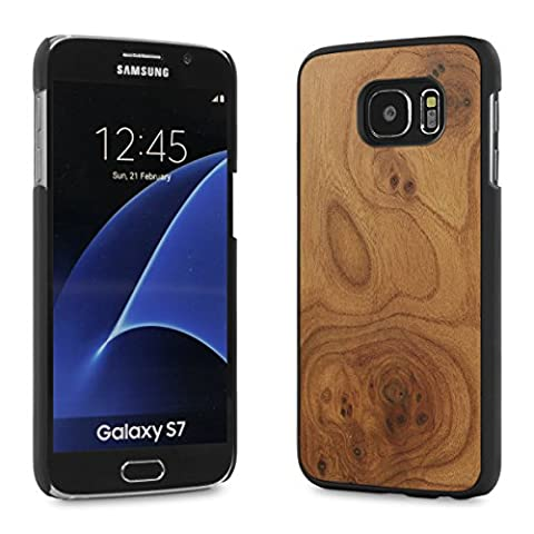 Cover-Up #WoodBack Etui de Bois Naturel pour Samsung Galaxy S7
