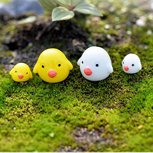 okdeals 4 Stück/Set Miniatur-Figur Garten-Ornament Mini-Tiere Basteln Cartoon Süßes Küken Bonsai-Pflanztopf Miniatur-Figur Landschaftsdekoration DIY -