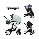 Springer 3 in 1 Kombi Kinderwagen Baby Erstausstattung Buggy Sportwagen