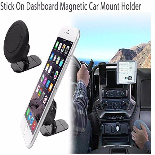 Kawell, sostegno magnetico universale da auto per cellulare, regolabile a 360°, adatto per iPhone, Samsung, Nexus altri Smart Phone e GPS, struttura in alluminio, colore: argento