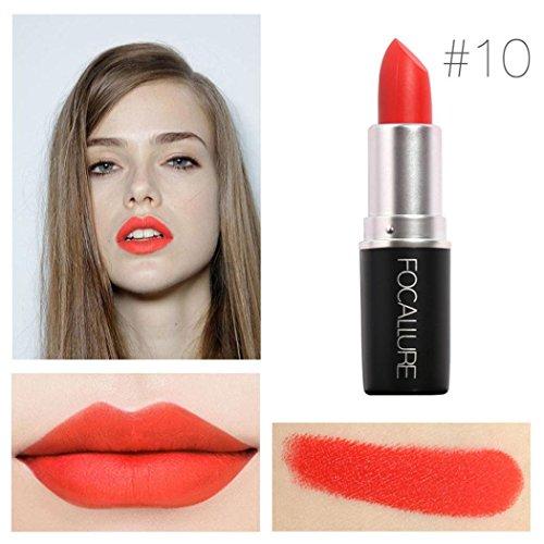 Yogogo - Rouge à lèvres - Nouveau Cosmétiques Mode Métalliquepour maquillage beauté longue durée 10#
