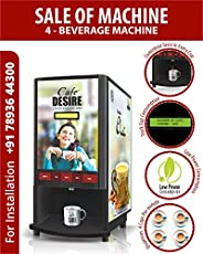 Cafe DESIRE I DRINK SUCCESS Coffee Machine 4 Lane | Fully Automatic Tea & Coffee Vending Machine | For Off