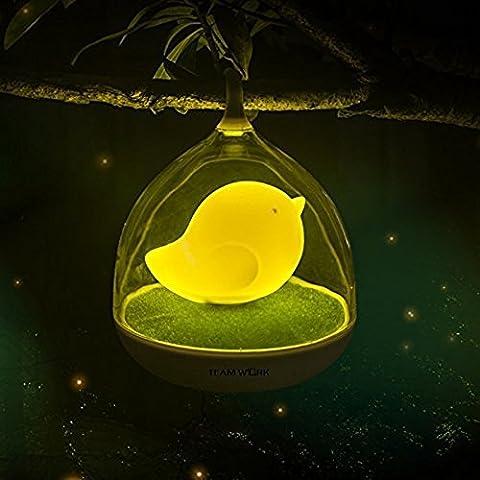 Gearmax® Lampada di Notte Nightlight USB LED Lampada da Tavolo Ricaricabile Portatile Uccello in Gabbia Birdcage Toccare Touch Sensor Camera da Bambini Regalo Natale