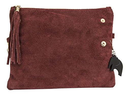 Big Handbag Shop, Borsetta da polso donna Deep Red