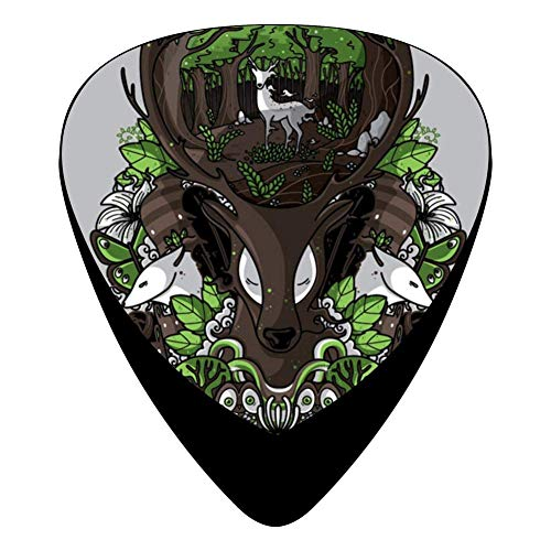 Spirit Of The Forest Guitar Picks Celluloid Print Mens Complete Assorted 12 Pack