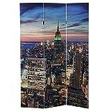 Mendler LED-Paravent Trennwand Raumteiler New York, Timer, netzbetrieben 180x120cm, 24 LEDs