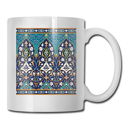 Jolly2T Funny Ceramic Novelty Coffee Mug 11oz,Ottoman Folkloric Art Inspired Abstract Aged Middle Age Renaissance Artful Print,Unisex Who Tea Mugs Coffee Cups,Suitable for Office and Home Renaissance-baby Cup