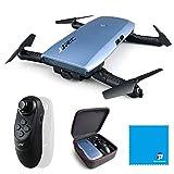 JJRC H47 Elfe Plus Quadcopter 720P WIFI FPV Pieghevole Selfie Drone con sensore di gravità Modalità senza testa Modalità di attesa altitudine RTF - blu… immagine