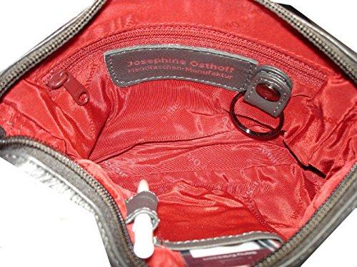 Josephine Osthoff Handtaschen-Manufaktur 5th Avenue - platin -, Borsa a tracolla donna Grigio grigio 18 cm breit,11,5 cm hoch, 4 cm tief