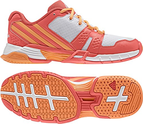 adidas Volley Team 4w, Chaussures de Volleyball femme Easy Coral / Glow Orange / FTWR White