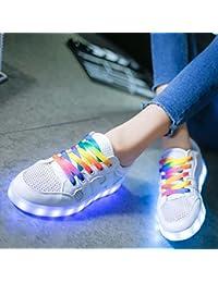 Pompe Unisex USB Charging LED Chaussures Fluorescentes Chaussures Couple Chaussures Plateaux Chaussures de Danse Snekers Chaussures Party Halloween 2017 Automne et Hiver New Eu Taille 34-45