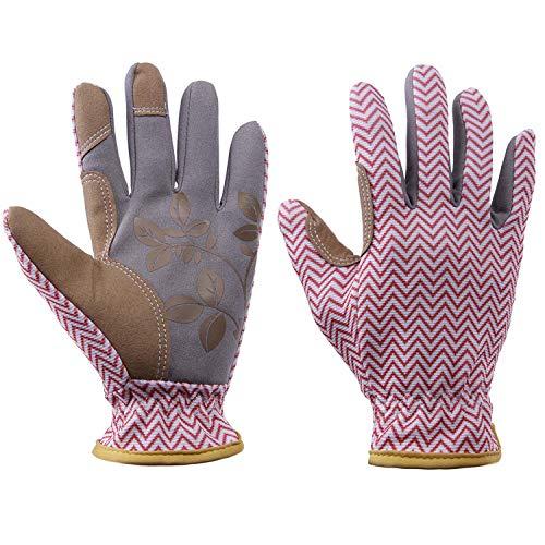 Gartenhandschuhe, schlanke Passform, Arbeitshandschuhe für Frauen, perfekt für Garten- und Haushaltsaufgaben, tolles Geschenk für Frauen CYST23, M, 2